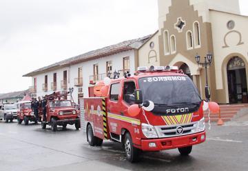 Con recursos propios, bomberos de Salento adquieren máquina de incendio