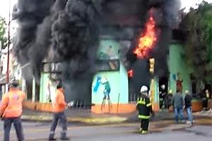 Voraz incendio en una pinturería céntrica