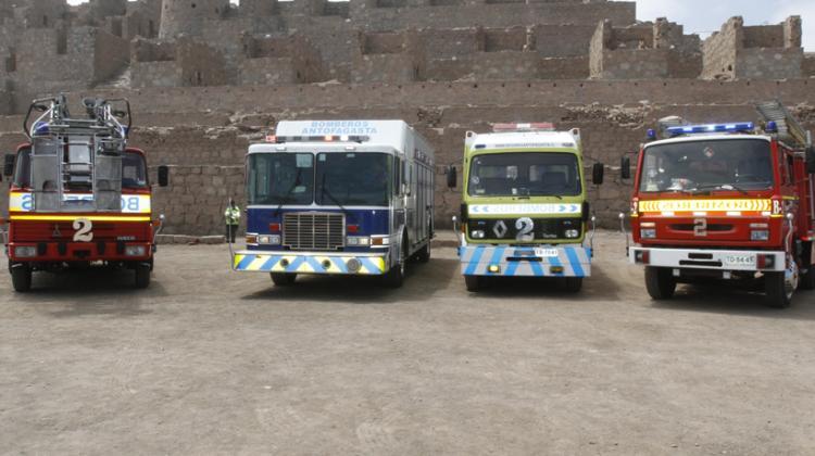 Bomberos de Antofagasta cuenta con seis nuevos carros
