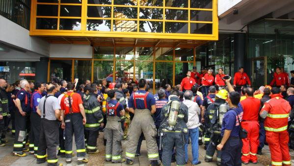Bomberos Voluntarios participaron de un mega simulacro de incendio en San Martín