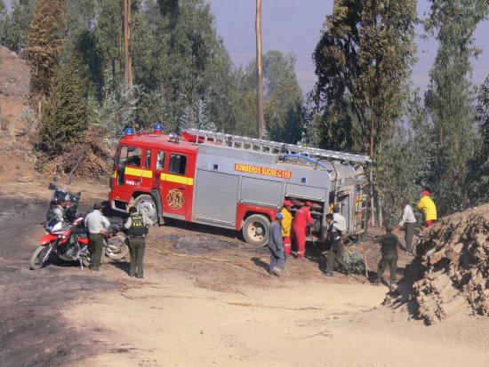 Carros bomberos fallan en un simulacro
