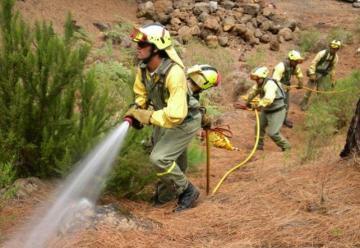 Protesta de los bomberos forestales de Castilla-La Mancha