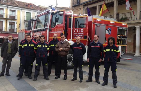 Un nuevo camión al parque de bomberos de El Burgo de Osma