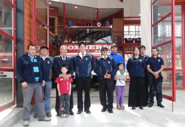 El municipio de Quinchao entrego el nuevo cuartel al Cuerpo de Bomberos de Achao.