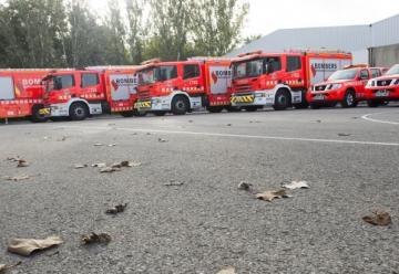 Bomberos de Valencia ha presentado parte de los nuevos vehículos.