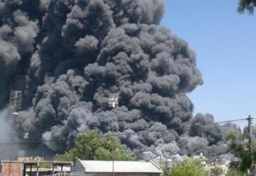 Incendio en un depósito de Esteban Echeverría