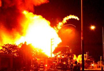Incendio de un depósito de garrafas en General Rodríguez