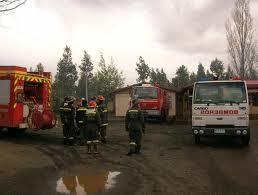 Desconocidos atacaron camión de Bomberos en Ercilla