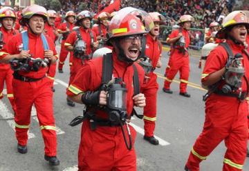 En Perú se celebra el Día del Bombero Voluntario