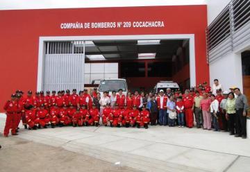 Distrito de Cocachacra cuenta con nueva compañía de bomberos