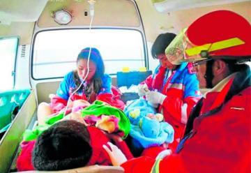 Nace un bebé en un camión de bomberos en San Juan de Luz