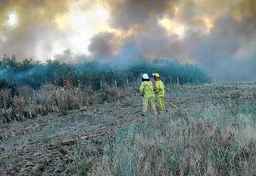 El fuego arrasó 70.000 hectáreas en Patagones
