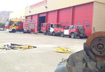 Heridos tres bomberos en la extinción de un fuego en Sorbas