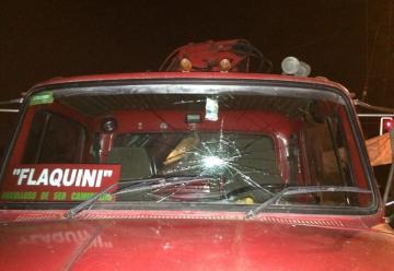 Antisociales apedrean carro bomba y cuartel de bomberos en La Serena