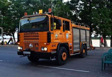 Donan carro hidrante a bomberos de Villa Hayes