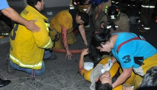 Bomberos heridos recibieron el alta médica