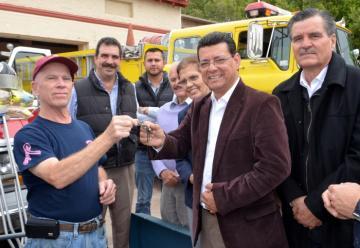 Recibe Bomberos Voluntarios Empalme ambulancia