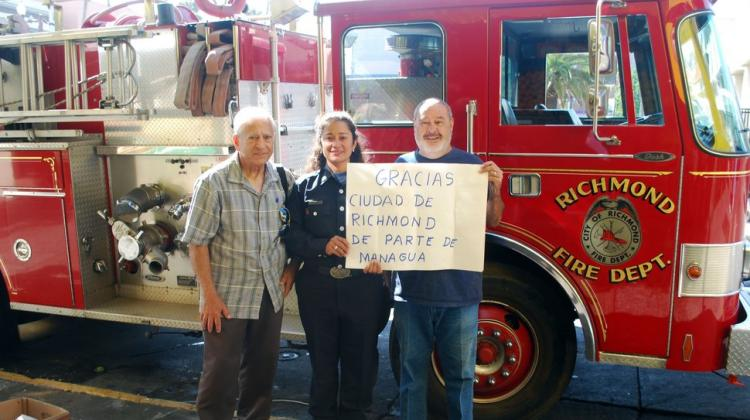 Bomberos de Richmond apoyan a colegas de Managua