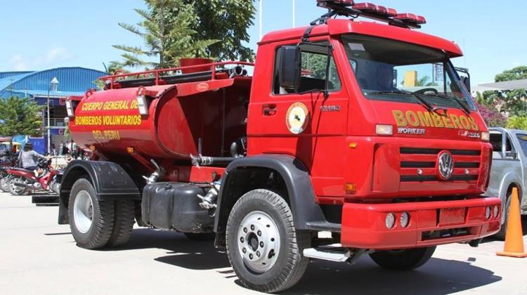 Compañía de Bomberos de Moyobamba ya cuentan con camión cisterna