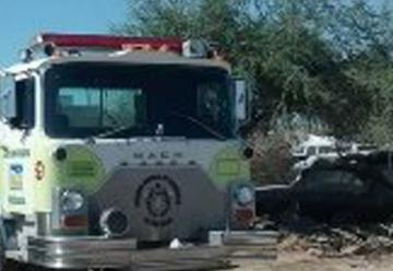 Unidad de bomberos se queda  sin combustible! tras sofocar incendio