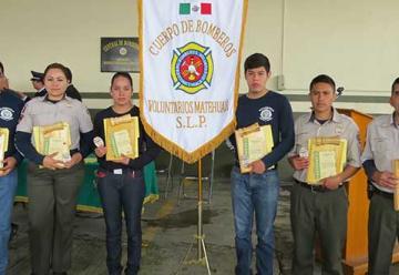 Se capacitaron para integrar el Cuerpo de Bomberos de Matehuala