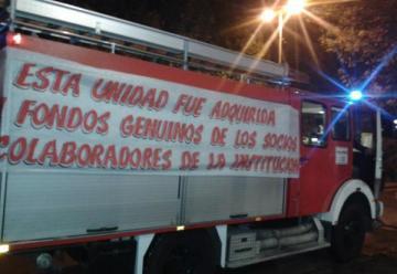 Bomberos Voluntarios de San Vicente recibieron el nuevo autobomba