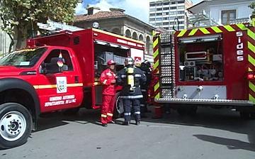Bomberos Antofagasta recibe tres vehículos de intervención rápida contra incendios