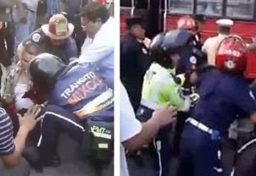 Bomberos municipales y voluntarios se enfrentan a golpes por atender a víctima de tiroteo