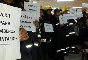El reclamo por una ART para Bomberos Voluntarios llegará al Senado