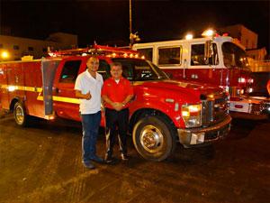 Llegaron vehículos para el cuerpo de bomberos de Huaquillas
