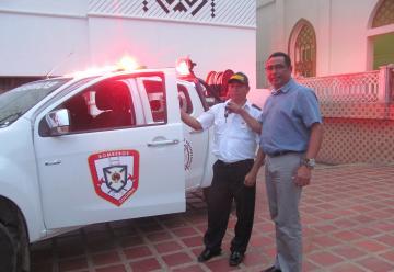 Nuevo vehículo para el cuerpo de bomberos voluntarios del Municipio de Sampués