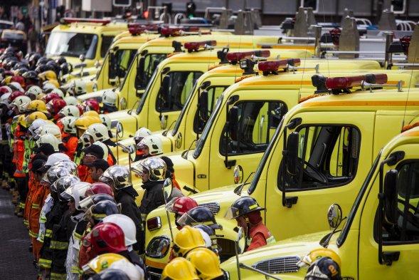 Bomberos de La Araucanía recibieron 15 nuevos carros
