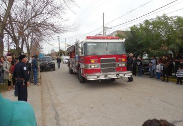 Nueva autobomba para bomberos de Coronel Vidal
