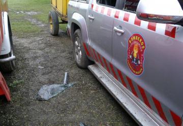 Roban equipamiento de los bomberos de Yerba Buena