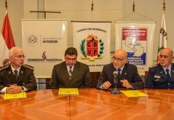 Bomberos Amarillos y Azules firman convenio de cooperación