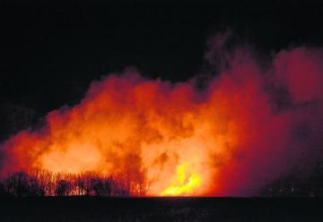 Alarma en Roca por gran incendio de pastizales