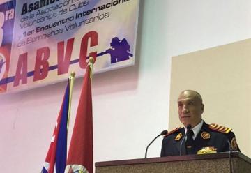 1er Encuentro Internacional de Bomberos Voluntarios, en La Habana