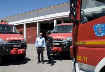 Los parques de bomberos de Cáceres, Plasencia y Coria cuentan con tres nuevos camiones