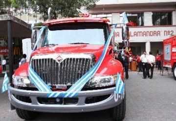 Los carros de bomberos son 'made in Guayaquil'