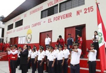 Nueva compañía de Bomberos en el distrito de El Porvenir