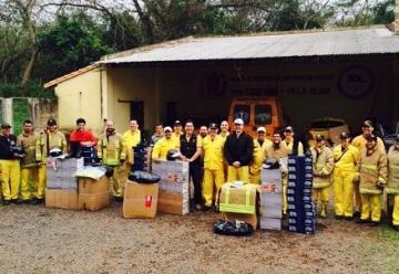 Turquía dona 80 equipos de protección a bomberos voluntarios