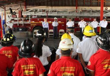 Bomberos de Managua celebran 79 años de servicio