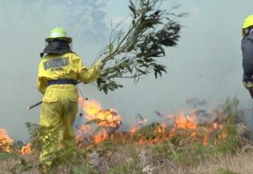 Más de 60 bomberos heridos dejan incendios forestales en el Valle