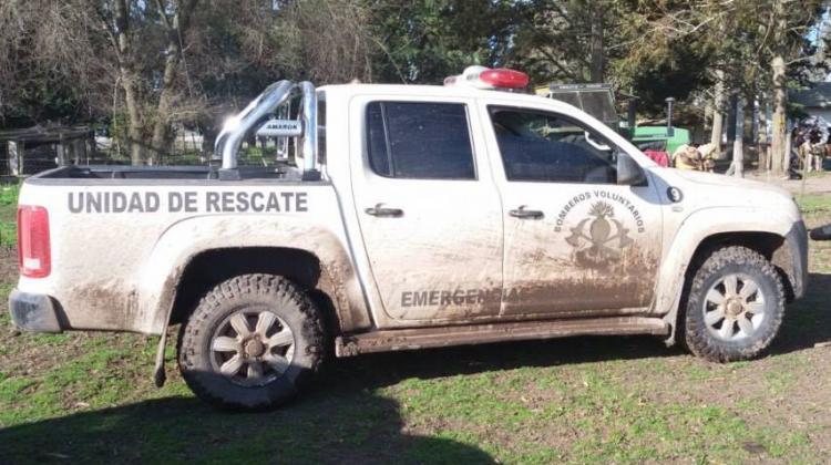Grave accidente sufrió un Bombero Voluntario de Castelli