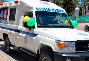 Nueva ambulancia y equipos para los Bomberos de Sonson