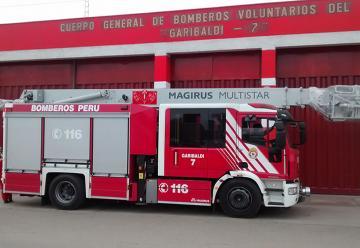 """Compañía de Bomberos """"Garibaldi 7"""" del Callao recibe moderna unidad"""