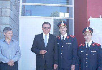 Se inauguró el cuartel de bomberos en Moquehuá