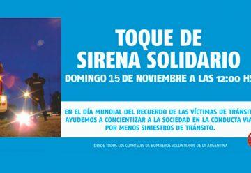 Toque de Sirena Solidario de los Bomberos Argentinos