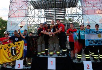 Gran final del IV Desafio de habilidades bomberiles 2015