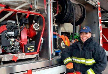 La primera chofer bombera de la provincia